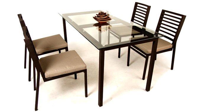 เฟอร์นิเจอร์อลูมิเนียม AL13014 Dining Set