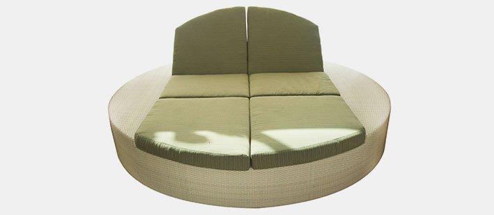 เฟอร์นิเจอร์หวายเทียม Sofa NC12019-1