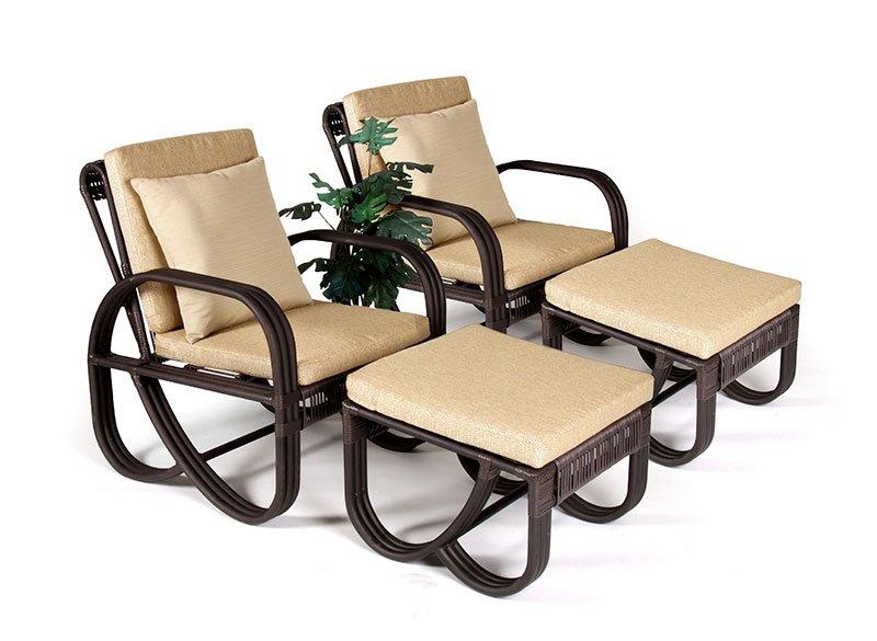 เฟอร์นิเจอร์หวายเทียม Lounge Chair Set TF0956