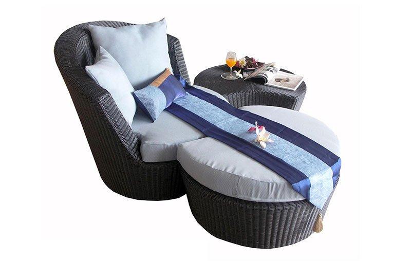 เฟอร์นิเจอร์หวายเทียม Lounge Chair Set TF1060