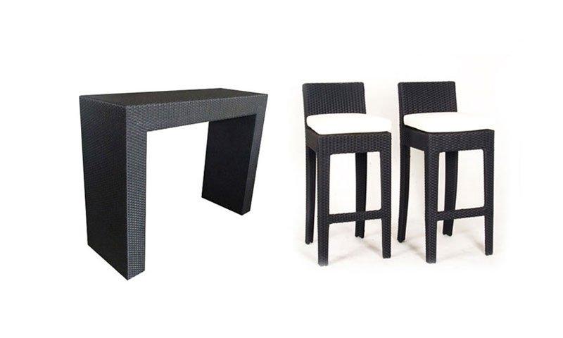 เฟอร์นิเจอร์หวายเทียม Counter Bar Set TF1002