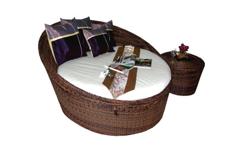 เฟอร์นิเจอร์หวายเทียม Day Bed TF0756