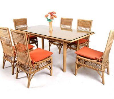 เฟอร์นิเจอร์หวายเทียม Dining Set TF0957