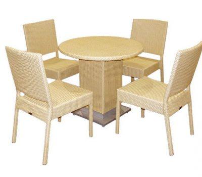 เฟอร์นิเจอร์หวายเทียม Dining Set TF0904