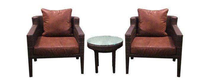 เฟอร์นิเจอร์หวายเทียม Lounge Chair Set TF1036