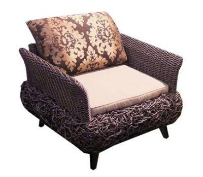 เฟอร์นิเจอร์หวายเทียม Lounge Chair TF1080LC
